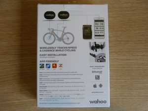 wahoo speed and cadence sensor box rear